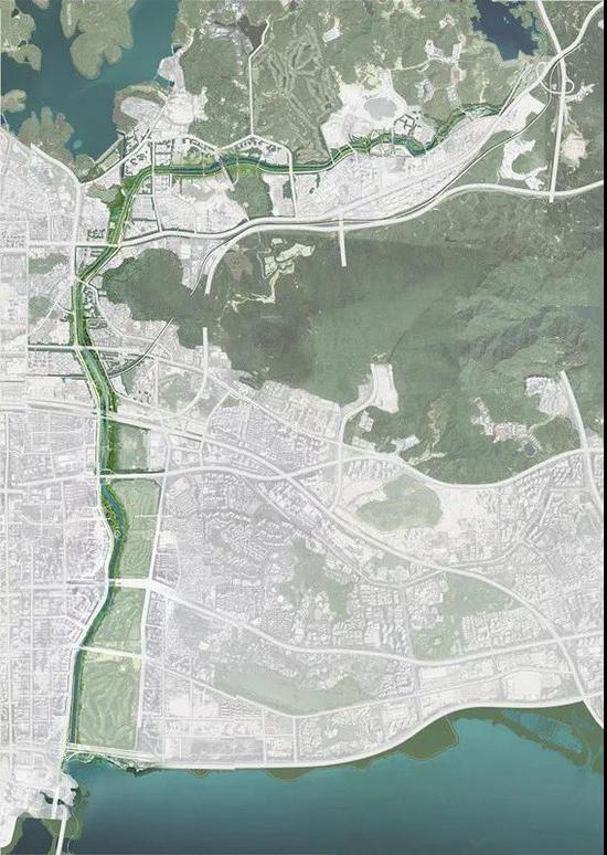 大沙河卫星云图