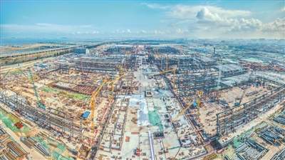 建设中的深圳国际会展中心