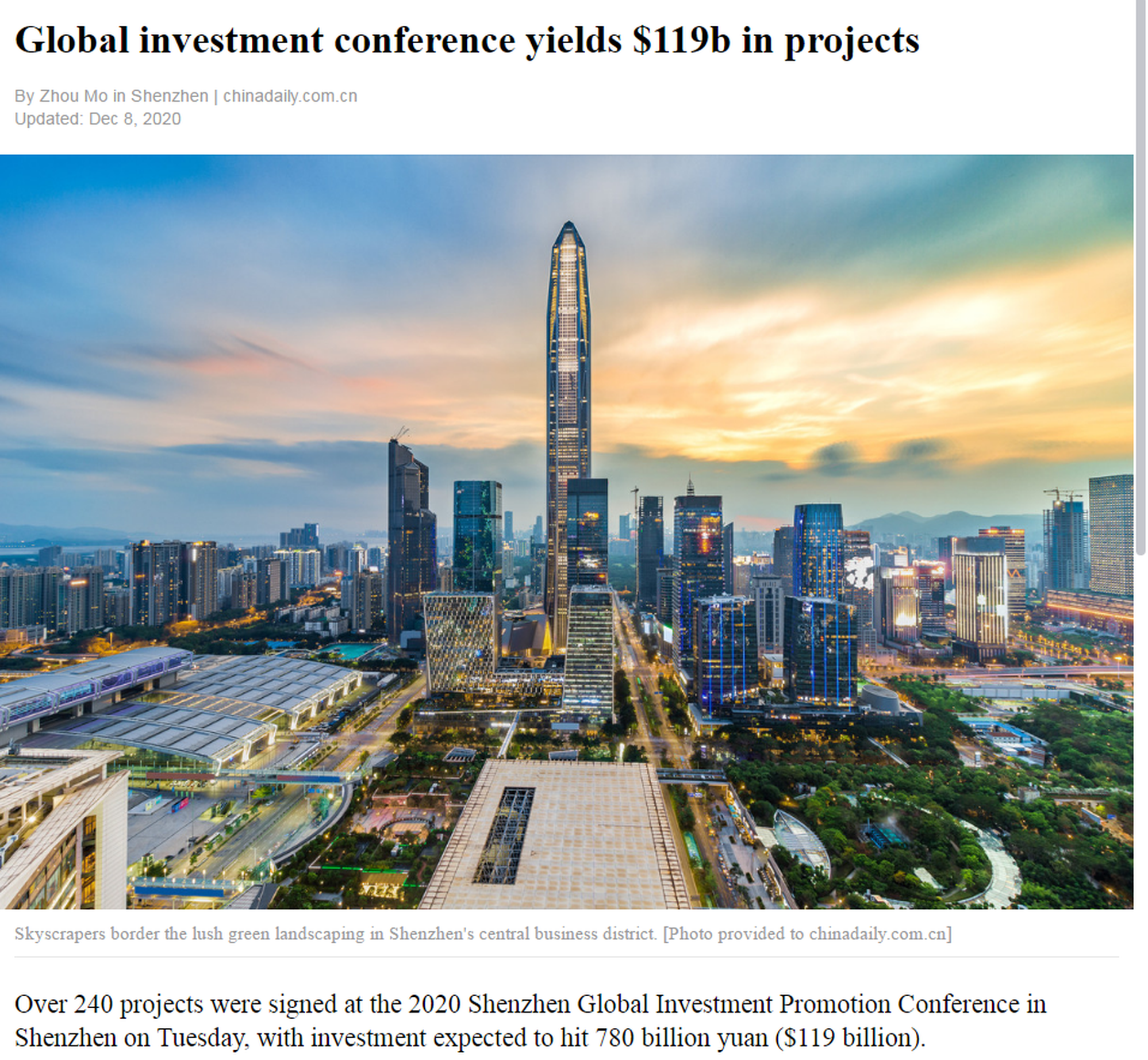 Global investment conference yields $119b in projects