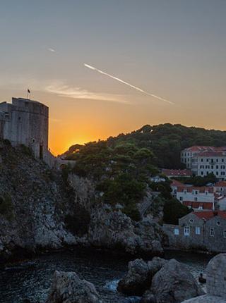 地中海最美古城落日