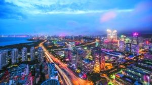 深圳中心城区灯光璀璨