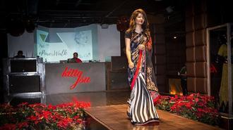 印度9名酸袭毁容女性登时装秀