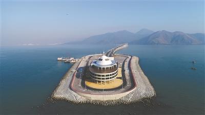 人工岛被设计成蚝贝状 广州日报全媒体记者卢政摄