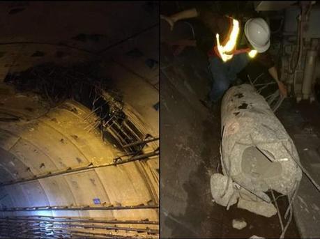 施工单位擅自打桩 桩头击穿地铁11号线隧道