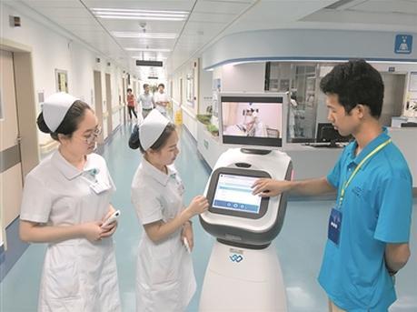 机器人导诊机械臂配液 多家医院布局大数据应用