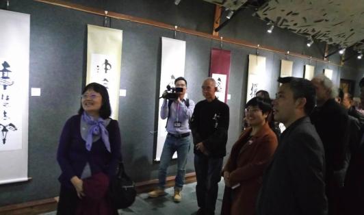 ▲台湾艺术家十人作品交流展。