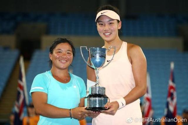 深圳体育又一突破 深二代王欣瑜获澳网青少年组女双冠军