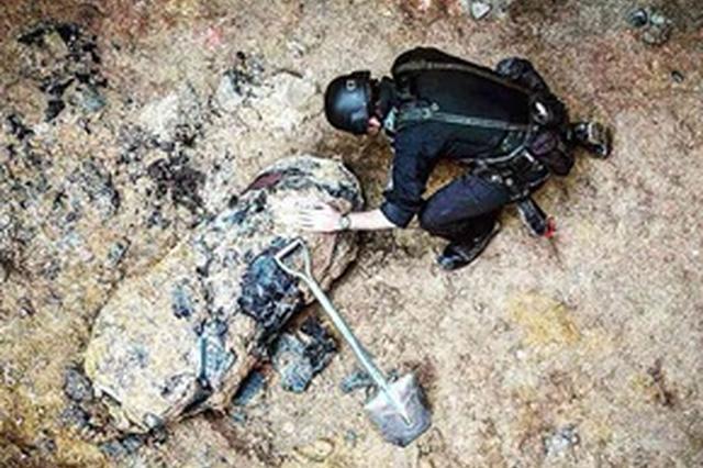 香港湾仔发现一枚二战遗留炸弹 已被警方成功解除