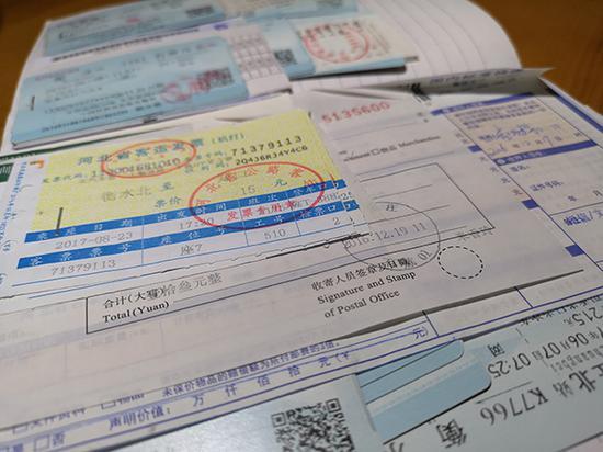 赵家人近年来奔波追责保留的车票