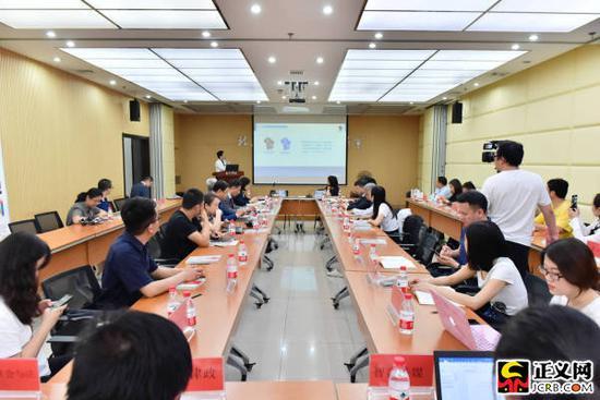 第三届北京朝阳区律师协会第一次新闻发布会现场,