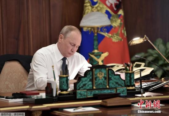 资料图:俄罗斯当选总统普京。