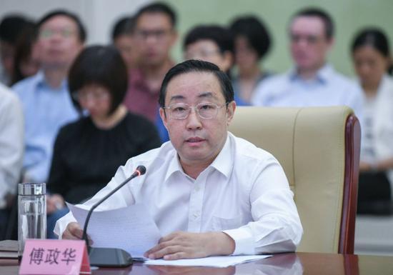 图为司法部部长傅政华出席会议并讲话。 王建军 摄