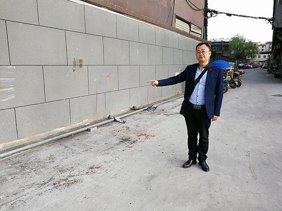 当年潘攀在李永志家附近经营的彩票投注点,已经拆除了,成为过道。澎湃新闻记者 朱远祥 摄