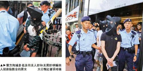 香港警方拘捕多名哄骗他人投资伦敦金的男女。图片来源:香港《大公报》记者 张琦/摄