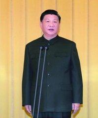 1月10日,中央军委向武警部队授旗仪式在北京八一大楼举行。中共中央总书记、国家主席、中央军委主席习近平向武警部队授旗并致训词。这是习近平致训词。新华社记者 李刚 摄
