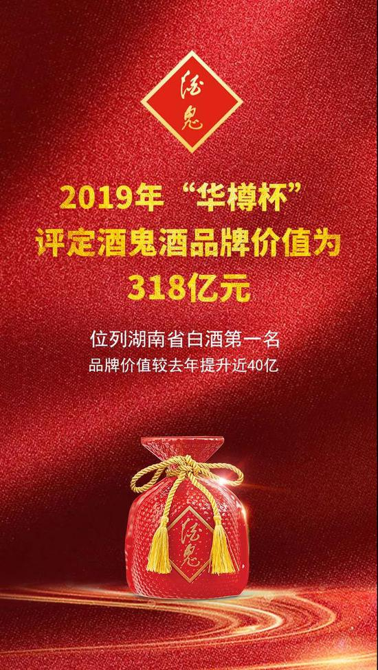 酒鬼酒荣获中国馥郁香型白酒领创品牌!品牌价值达318亿元!