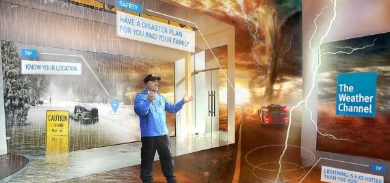 世界天气频道运用MR技术播报天气