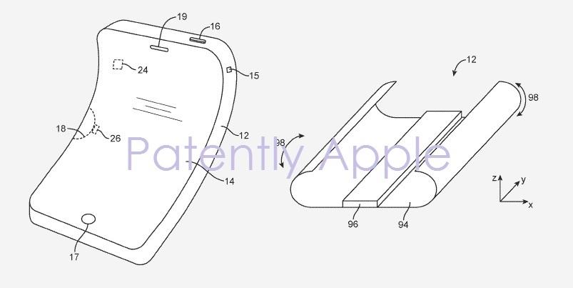 苹果可折叠设备专利曝光