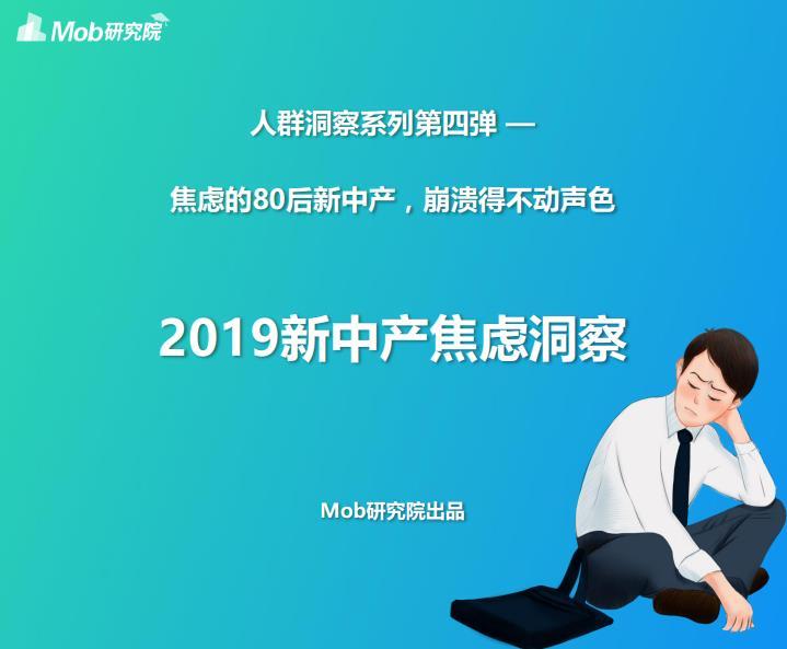 2019新中产焦虑洞察:整体网民规模接近1亿(可下载)