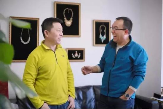 陈海滨(左)与王文钢(右)