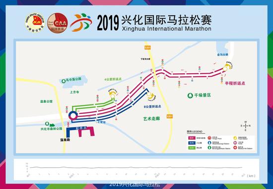2019兴化国际半程马拉松赛道长这样,你准备好了吗
