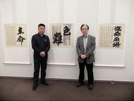 魏云飞与日本著名油画家东强