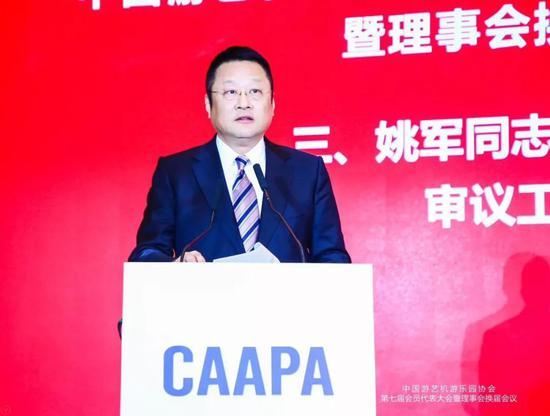 ▲中国游艺机游乐园协会会长姚军总结发言