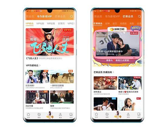 芒果TV首次为终端定制联合权益 HUAWEI P30系列独享双会员福利