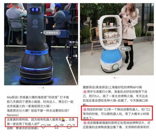 小红书种草的海底捞、巴奴火锅同款传菜机器人,是怎么火起来的