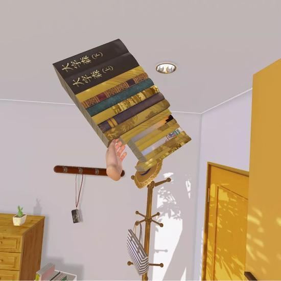 一次可以举起十多本书