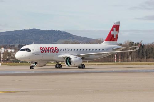 普惠GTF发动机为瑞士国际航空公司的空中客车A320neo系列飞机提供动力