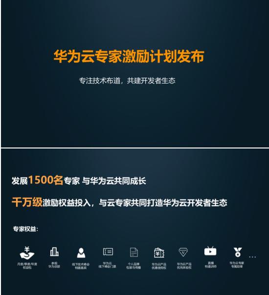 """华为云开放日发布云专家激励计划,要将开发者""""宠""""上天"""