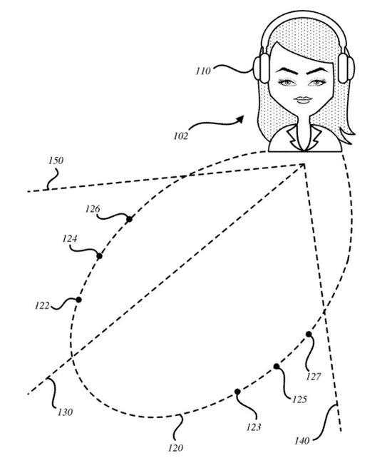 苹果公司有关AR音频耳机的新专利的插图