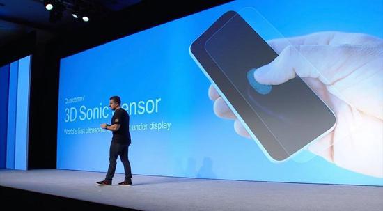 高通的3D超声波传感器是一款内置超声波指纹读取器,将于2019年在智能手机上使用