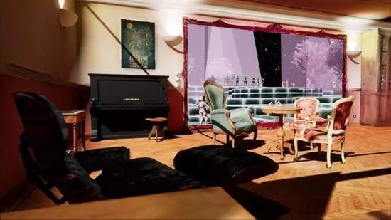 对比现实和VR中的Enea工作室几乎一摸一样