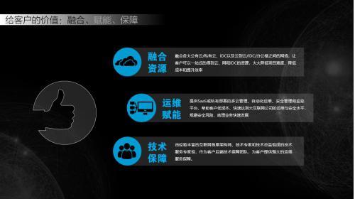 新钛云服带给客户的价值是:融合资源、运维赋能、技术保障。