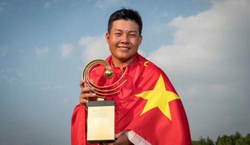 比音勒芬祝贺中国健儿林钰鑫在亚太业余锦标赛再折桂冠
