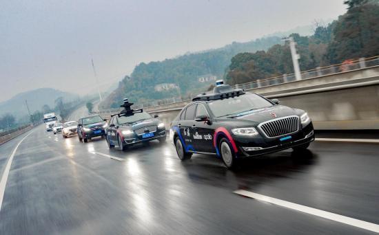 全国首例多车型高速无人驾驶及车路协同演示引爆AI势能 Apollo车队湘江开跑