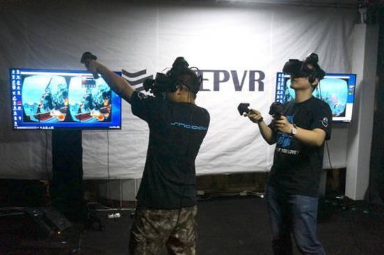 与固定手柄操作、单人VR