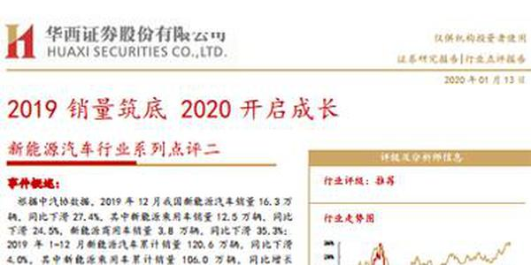 新能源汽车行业系列点评二:2020年国产Model3销量将达15万辆(可下载)