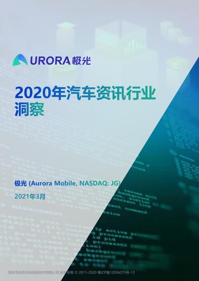 极光2020年汽车资讯行业洞察:2020年中国乘用车销量达2017.8万辆