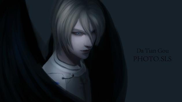 《剑网3》十里沙出品 黑暗系成男手绘壁纸