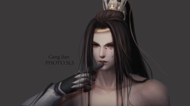 《剑网3》黑暗系成男手绘壁纸