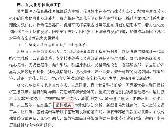 """<b>国务院将虚拟现实写入""""十三五""""国家信息化规划</b>"""