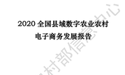 2020全国县域数字农业农村电子商务发展报告:2019零售额30961.6亿元(可下载)