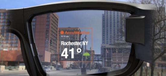 Vuzix宣布AR眼镜Vuzix Blade新增天气预报功能