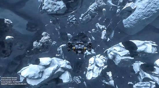 渲染能力提升 英伟达使用图灵网格着色技术演示小行星