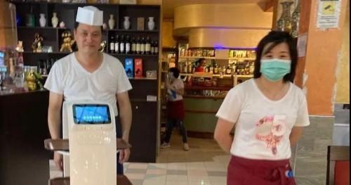 中国送餐机器人落地意大利华人餐厅 引多家意媒关注
