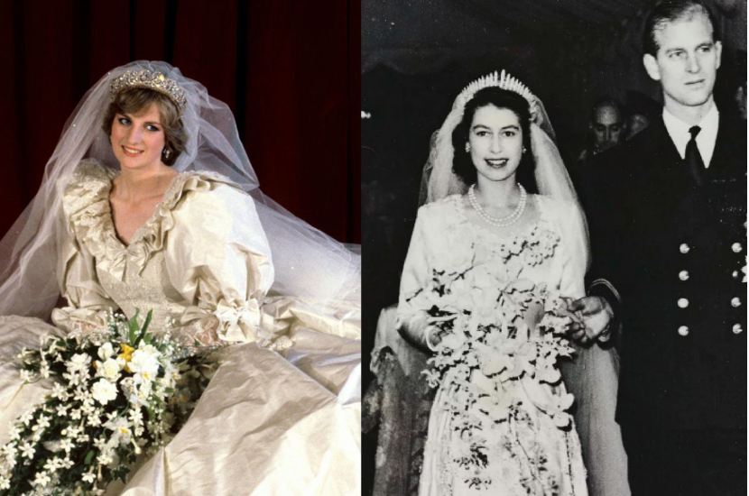 10件英国王室婚礼的绝美婚纱!伊莉莎白女王、黛妃、凯特王妃…的梦幻婚纱