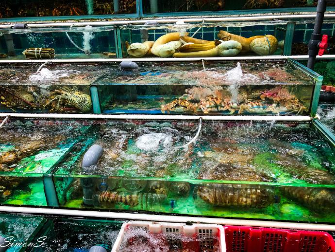 香港西贡渔港的海鲜夜市好火爆,食材真的是丰富又新鲜